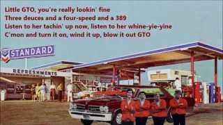 Little GTO Ronnie And The Daytonas with Lyrics