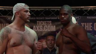 DDD MEANS BUSINESS: Daniel Dubois squares off with Tom Little ahead of English Title fight