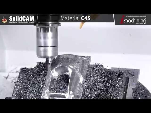 iMachining 3D & 5X Simultan Fräsen eines Automodels