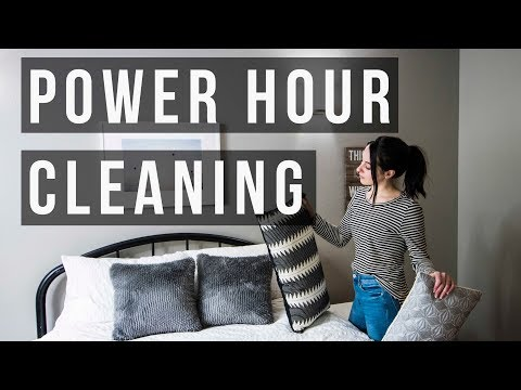 Speed Cleaning Power Hour – Stay At Home Mom Cleaning Routine ♡ NaturallyBrittany