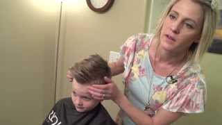 How to Cut a boys Pompadour or Quiff Haircut // Hair 101 youtube Tutorial