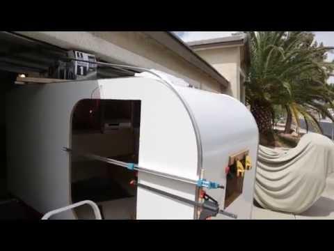 Teardrop trailer build AluminumTrim