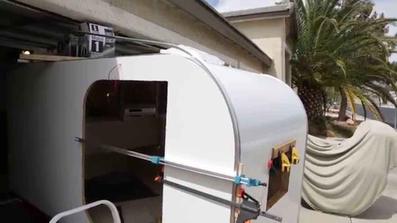Teardrop Trailer Build Aluminumtrim Youtube