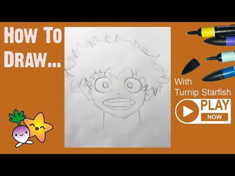 HOW TO DRAW Deku From My Hero Academia And Pikachu From Pokemon - Turnip Starfish