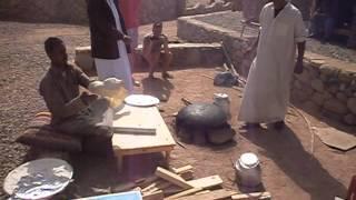 Приготовление лаваша в деревне бедуинов