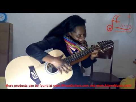 【Aileen Music】Music Instruments performanceDoubleneck guitar 2