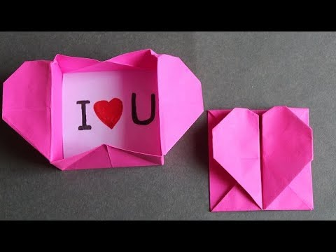 DIY -  Origami: Heart Box & Envelope | with Secret Message - Pop-Up Heart