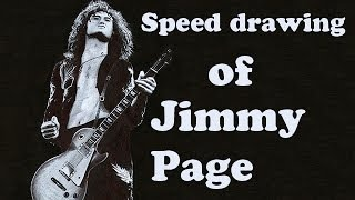 Speed drawing: Jimmy Page (pen)