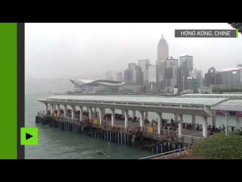 Hong Kong sur la route du typhon Khanun