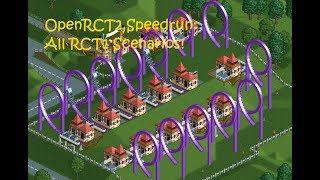 OpenRCT2 Speedrun - All RCT1 scenarios in 1:24:35