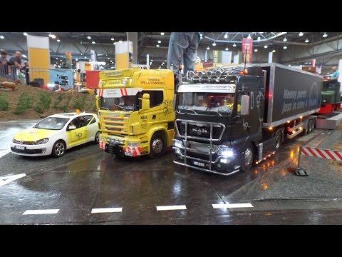RC-Trucks zur modell-hobby-spiel Messe Leipzig 2014 (Modellbaumesse)