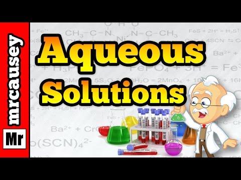 Aqueous Solutions, Acids, Bases and Salts