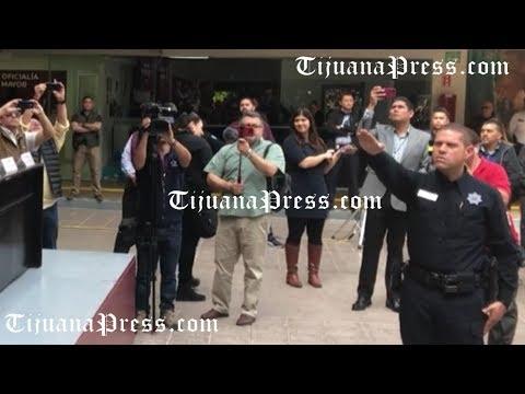 Toma de protesta del nuevo director de la policía municipal de Tijuana
