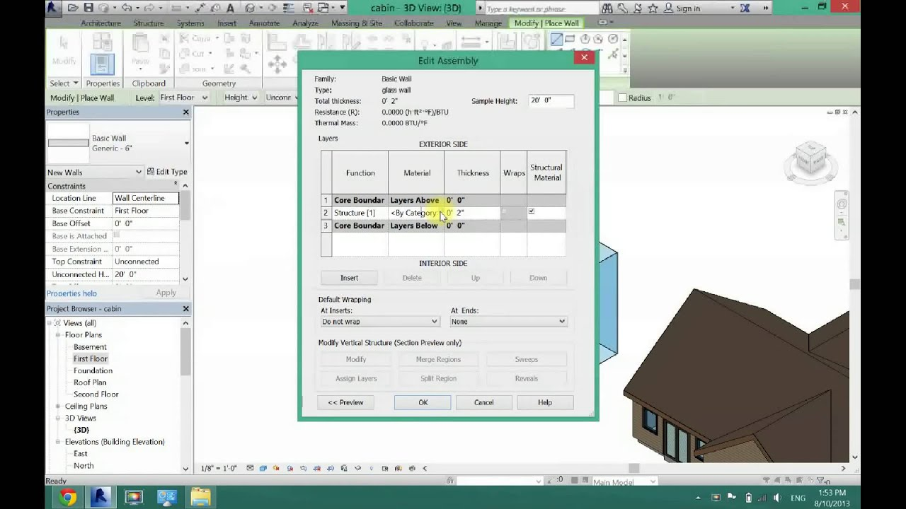 How To Make Glass Stone Wood Any Material Wall In Revit