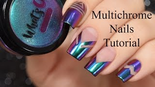Chameleon Multichrome Nails Tutorial