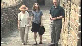 The Clinton First Family Tour the Great Wall of China (1998)