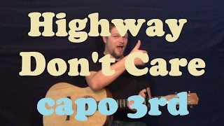 Highway Don't Care (Tim McGraw) Easy Guitar Lesson Easy How to Play