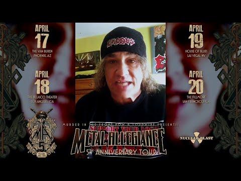 "METAL ALLEGIANCE - 5th Anniversary Tour Steve ""Zetro"" Souza Invite (OFFICIAL TRAILER)"