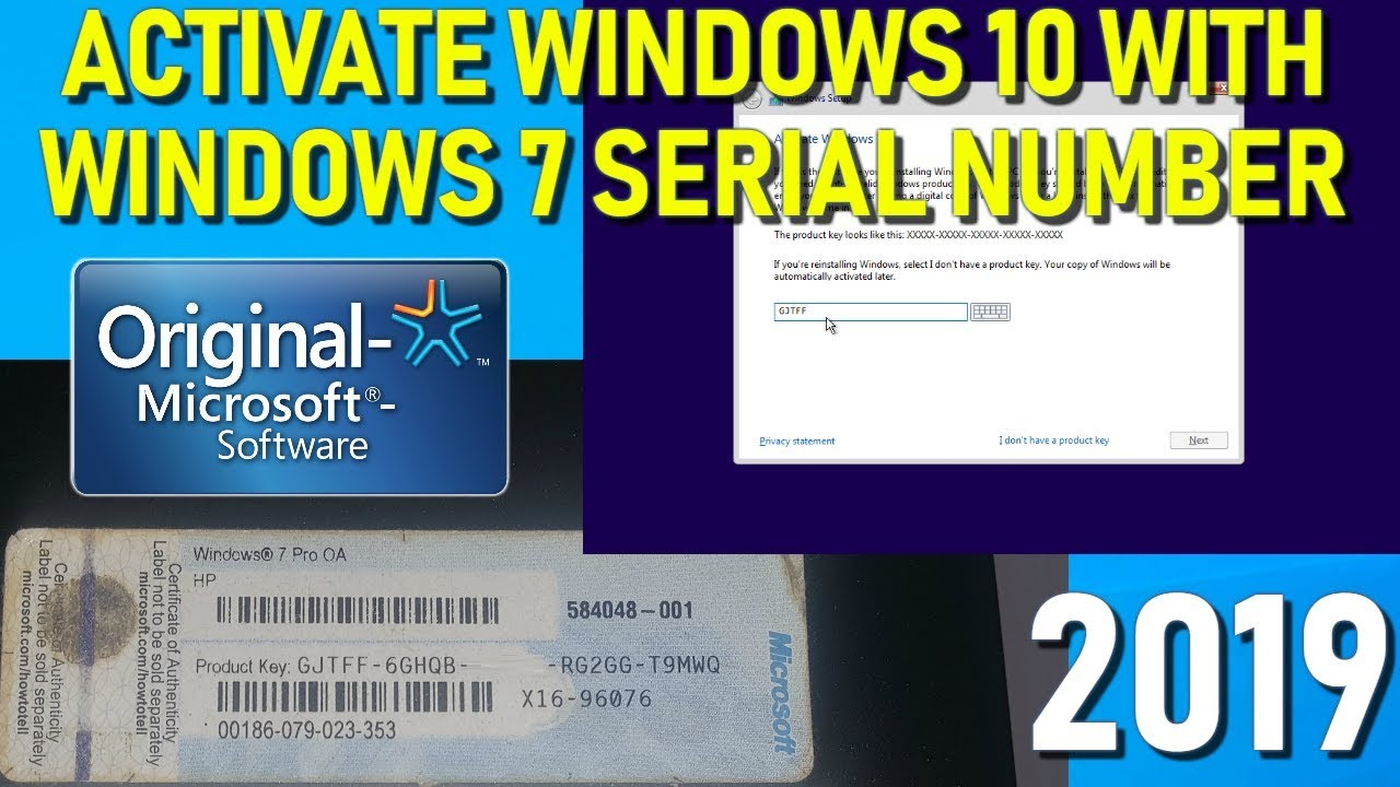 activate windows 10 product key 2019