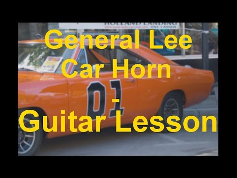 How to play - GENERAL LEE CAR HORN (From the Dukes of Hazzard) - FREE Guitar Lesson