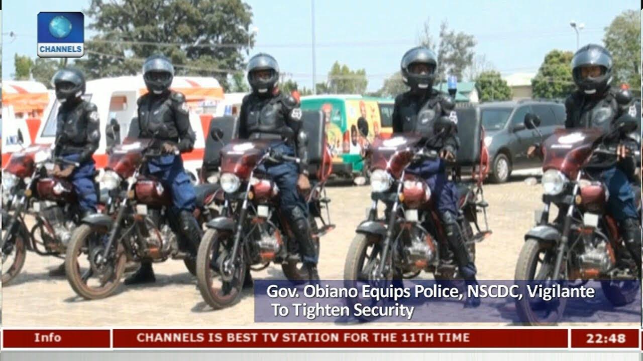 Obiano Equips Police, NSCDC, Vigilante To Tighten Security Pt 3 |News@10|  29/11/17