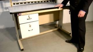 """Pro-line Model El """"ergoline"""" Hand Crank Height Adjustable Work Bench"""