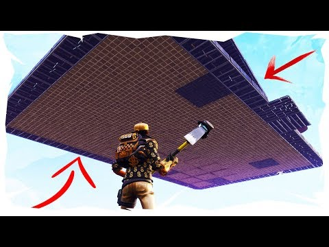 HOW TO BUILD A FLOATING BASE IN FORTNITE SAVE THE WORLD | Working 2018