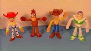 2003 DISNEY'S TOY STORY SET OF 4 KELLOGG'S MINI BENDY FIGURES VIDEO REVIEW