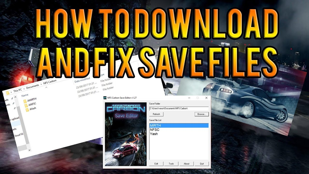 Need for speed carbon save editor download