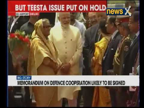 Bangladesh Prime Minister Sheikh Hasina arrives in Delhi, PM Modi welcomes her