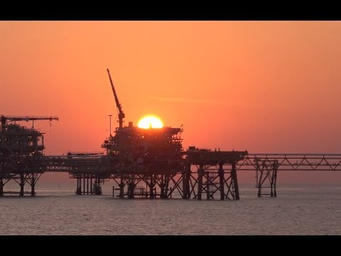 Yadana Gasfield Myanmar offshore installations, Andaman Sea