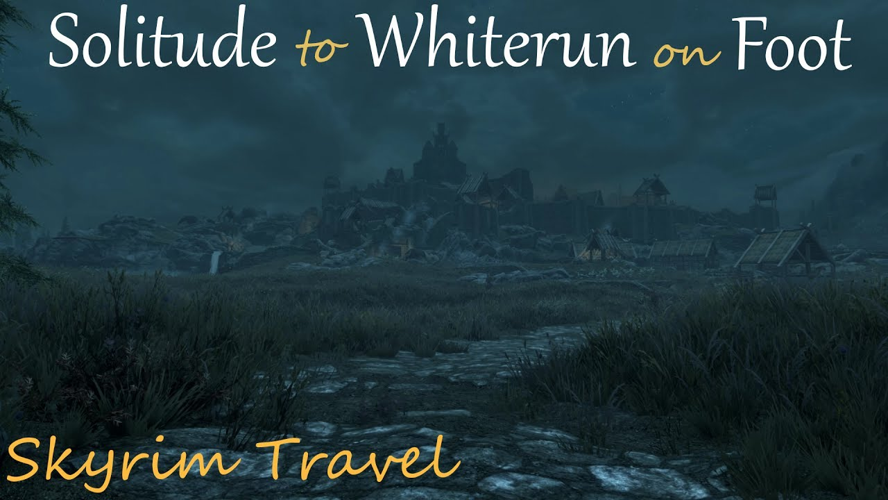 Solitude to Whiterun on Foot • Skyrim Travel (ASMR) • Sleep Relaxation & Ambient Sounds
