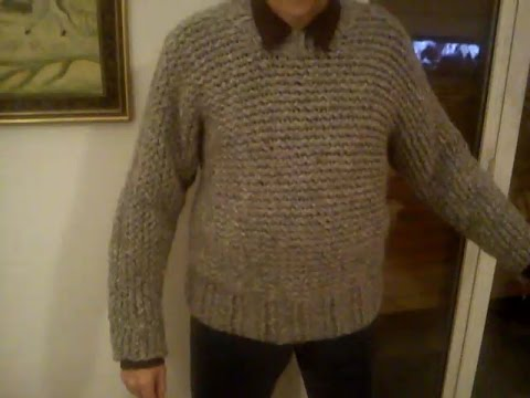 Chunky Men S Sweater On The Round Loom Youtube