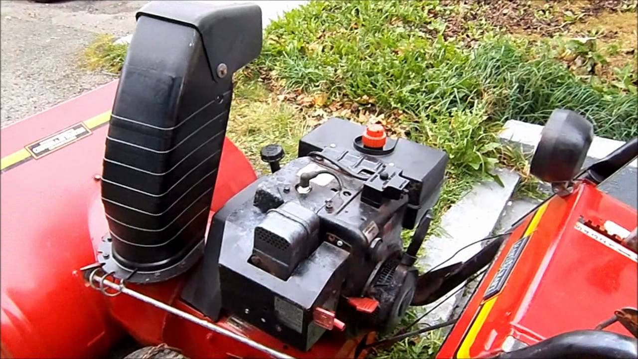 Old 1980s Mastercraft Snowblower 10hp 33inch Cut First Start After Mtd 211360 Parts List And Diagram Ereplacementpartscom Rebuild Fix