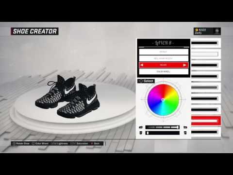 """NBA 2K17 Shoe Creator - Nike KD 9 """"Mic Drop"""""""