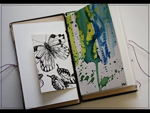 From Vintage book to Art Journal!