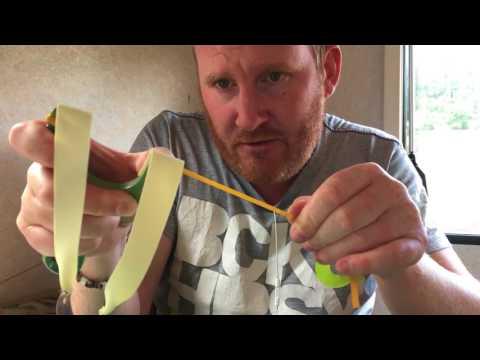 How to tie a flatband set to a ott Catapult slingshot