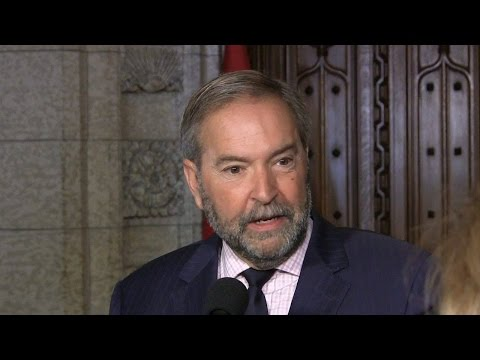 Mulcair says Canadians 'suspicious' of Liberal climate plan