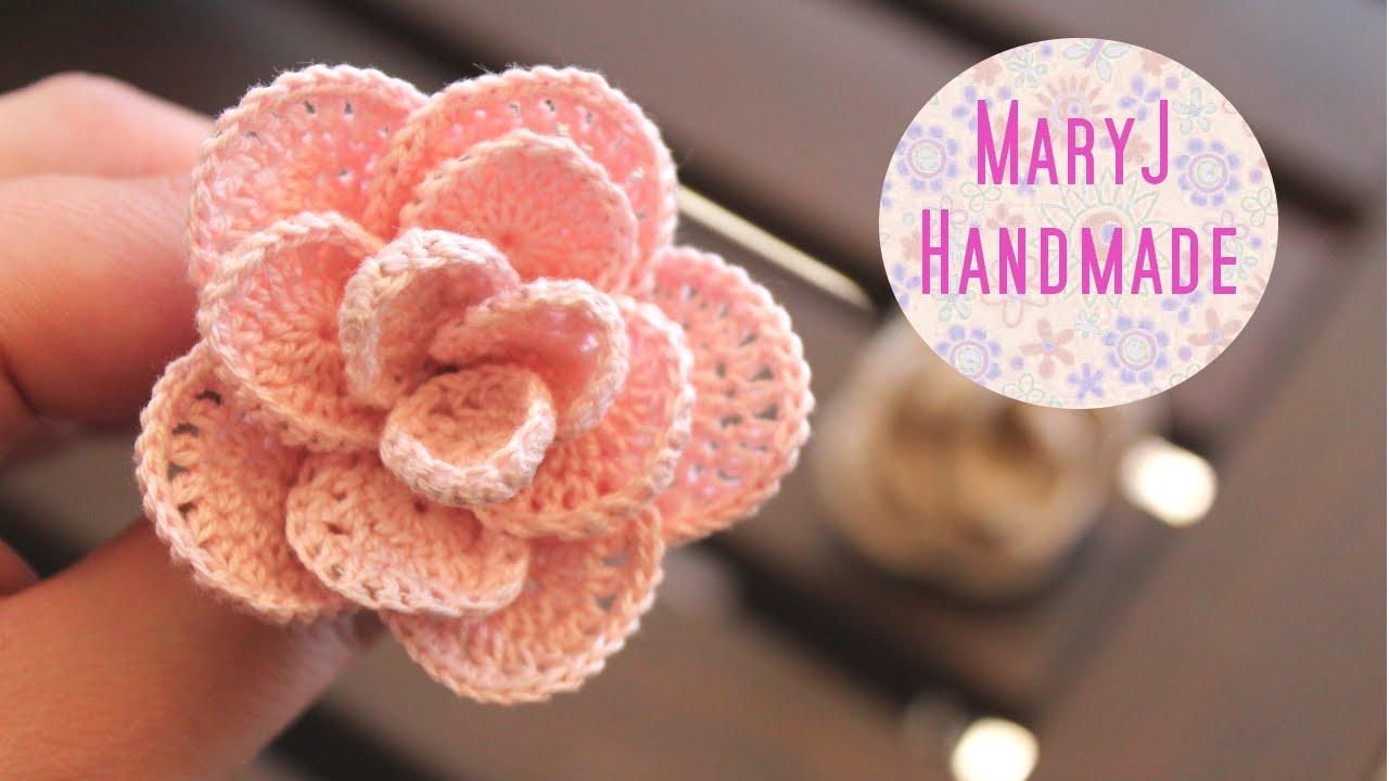 Rosa Alluncinetto Crochet Flower Sub En Youtube