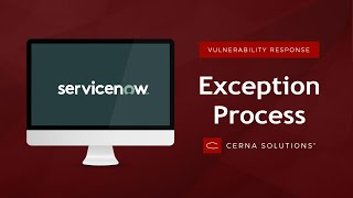 ServiceNow Vulnerability Response Exception Process Walkthrough (New York)