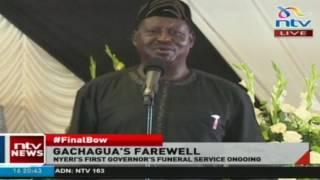 Raila Odinga's speech at Governor Gachagua's burial