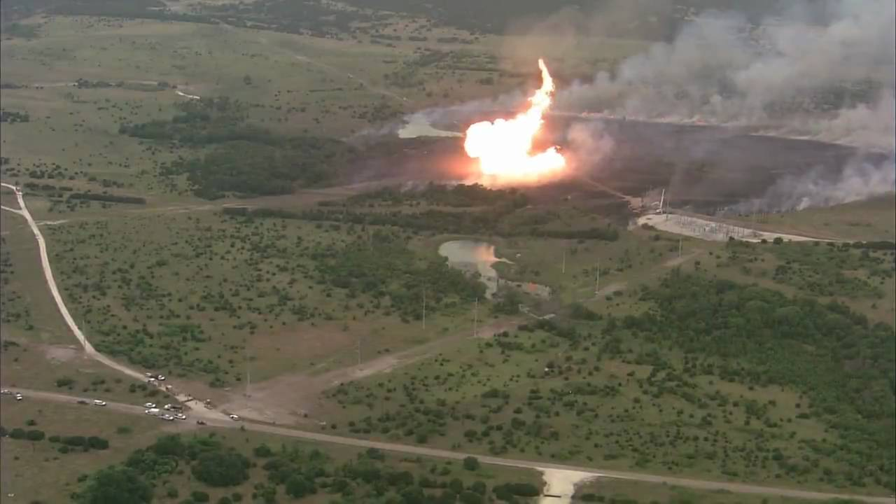 High Pressure Natural Gas Line Explosion