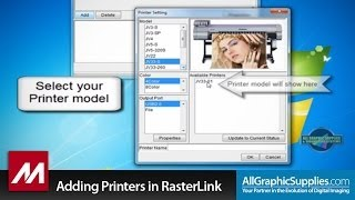 Adding a Printer to Mimaki RasterLink - All Graphic Supplies
