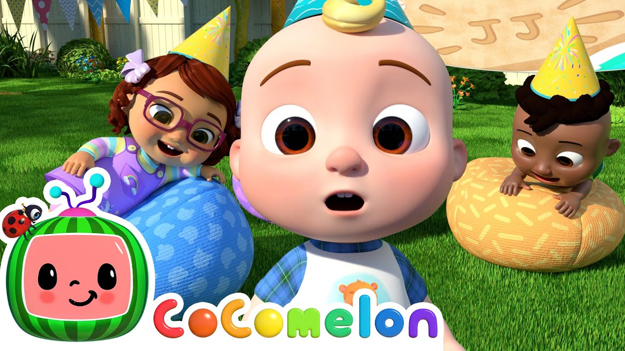 JJ's Birthday Musical Chairs! | @Cocomelon - Nursery Rhymes | Learning Videos For Toddlers