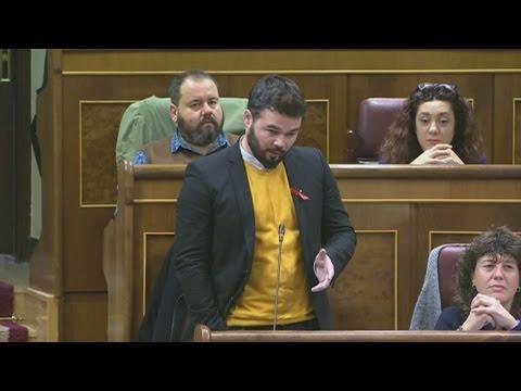 """RUFIÁN (ERC) en el Congreso a RAJOY: """"No estamos hablando de BÁRCENAS, puede decir CONDÓN"""""""