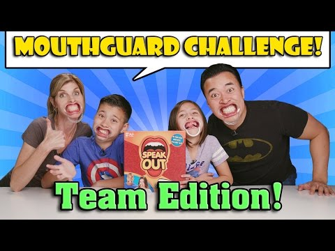 Thumbnail: MOUTHGUARD CHALLENGE TEAM EDITION!!! Family Speak Out Game!