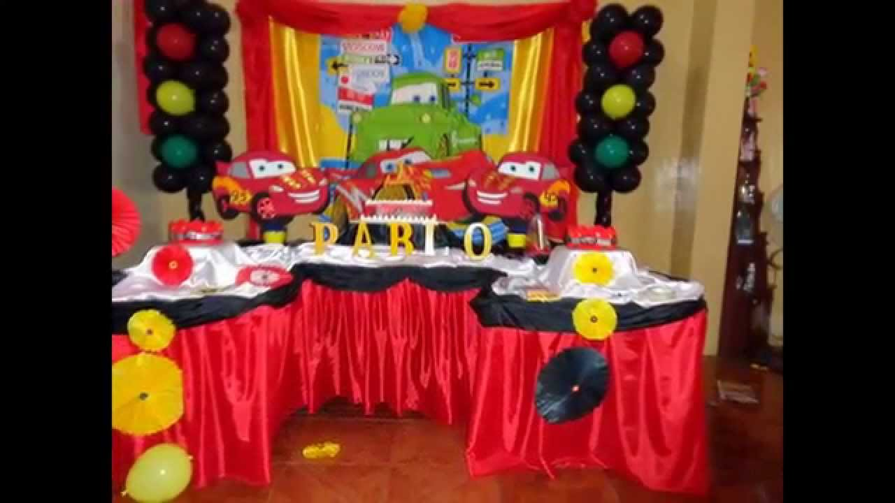Decoracion de cars decocandy youtube for Imagenes de decoracion de fiestas infantiles