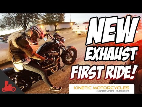 Ms. Blockhead's FIRST Ride w/ NEW Exhaust! - Harley Sportster 48