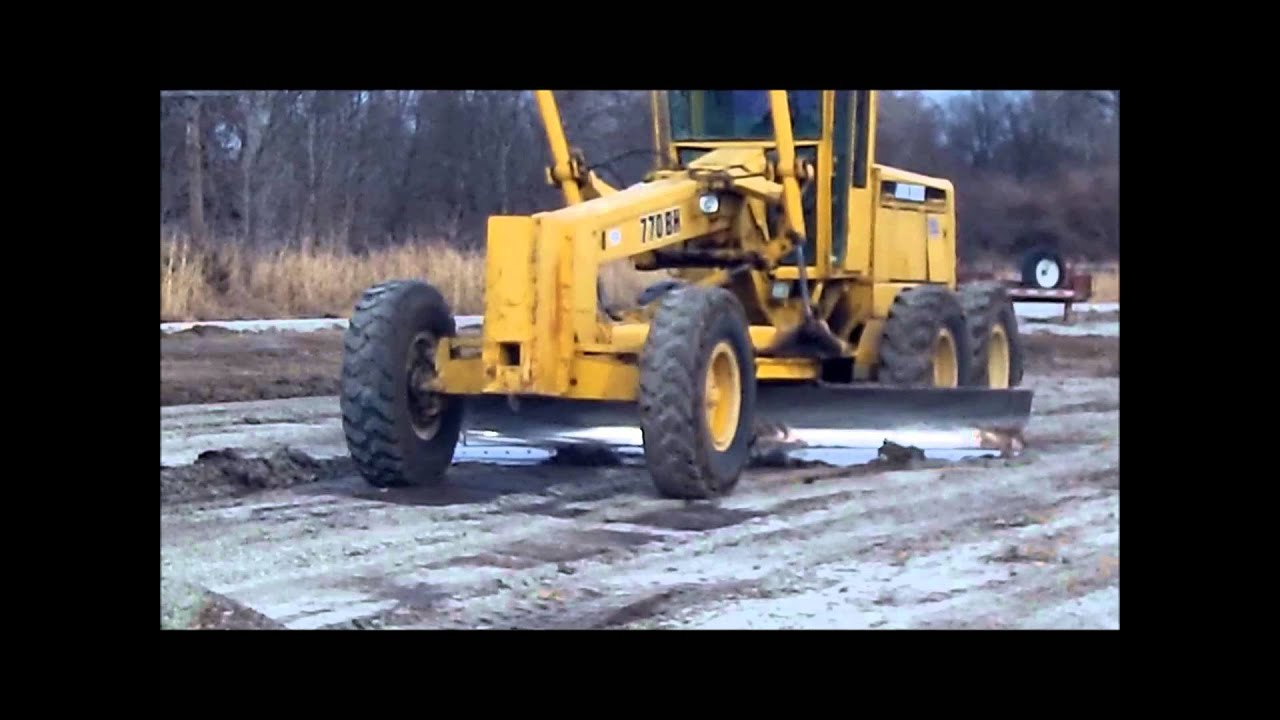 Construction Equipment For Sale >> 1989 John Deere 770BH articulated motor grader for sale | sold at auction March 14, 2013 - YouTube