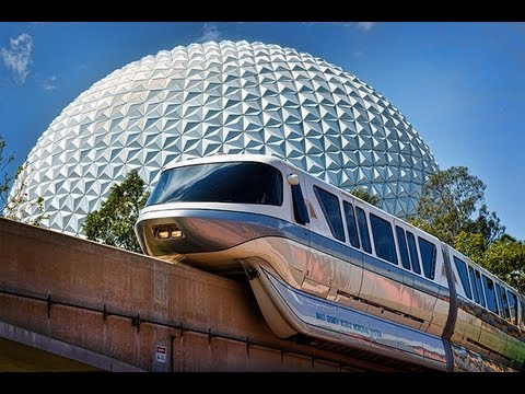 Walt Disney World Monorail to Epcot 2013 HD POV Ride through